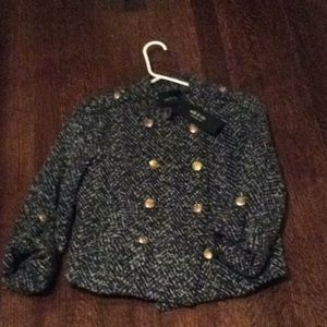 Ark & Co Jackets & Coats - Tweed military style lined ark & co. Jacket NWT